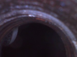 Valve visible through spark plug hole
